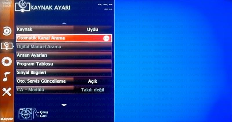 arçelik smart tv kanal arama,arçelik smart tv sinyal yok,arçelik smart tv turksat 4a kurulumu,arçelik smart tv uydu ayarları