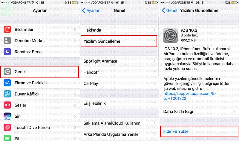 ios yazılım güncelleme,iphone cihazlarda yazılım güncelleme,itunes programı ile yazılım güncelleme,iphone yazılım güncelleme