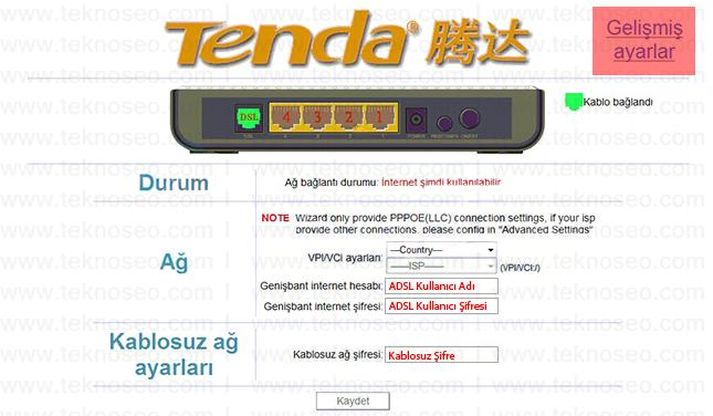 tenda w150d arayüz giriş şifresi,tenda w150d modem kurulumu,tenda w150d kablosuz ayarları,tenda w150d sıfırlama