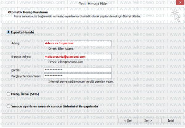 outlook mail kurulumu,yandex mail kurulumu,yandex giden sunucu adresi,yandex gelen sunucu adresi