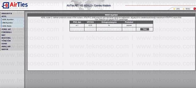 airties rt-102 arayüz giriş şifresi,airties rt-102 modem kurulumu,airties rt-102sıfırlama,airties rt-102 internet ayarları