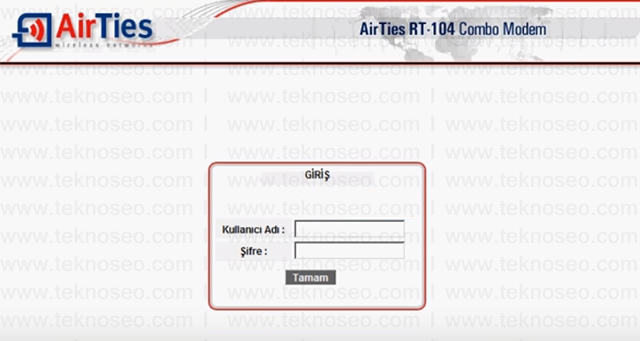 airties rt-104 arayüz giriş şifresi,airties rt-104 modem kurulumu,airties rt-104sıfırlama,airties rt-104 internet ayarları