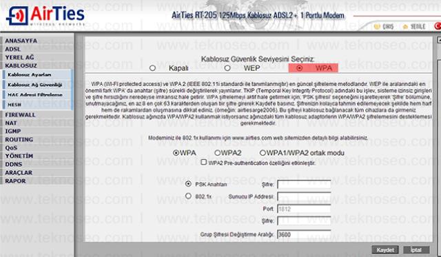 airties rt-205 arayüz giriş şifresi,airties rt-205 modem kurulumu,airties rt-205 kablosuz ayarları,airties rt-205 sıfırlama