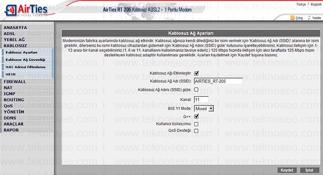 airties rt-206 arayüz giriş şifresi,airties rt-206 modem kurulumu,airties rt-206 kablosuz ayarları,airties rt-206 sıfırlama