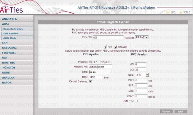 airties rt-211 arayüz giriş şifresi,airties rt-211 modem kurulumu,airties rt-211 kablosuz ayarları,airties rt-211 sıfırlama
