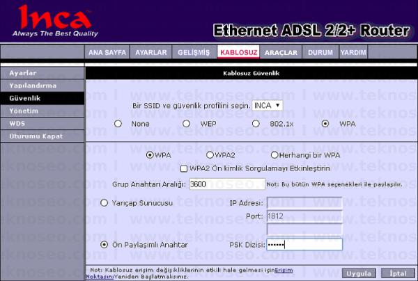 inca im-204W arayüz giriş şifresi,inca im-204W modem kurulumu,inca im-204W kablosuz ayarları,inca im-204W sıfırlama