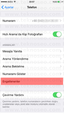 iphone numara engelleme,numara engelleme nasıl yapılır,iphone numara engelleme kaldırma,iphone engellenenler listesi