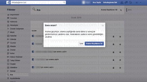 facebook arama kayıtları,facebook arama geçmişi nasıl silinir,facebook arama geçmişini silemiyorum,facebook arama kayıtları nereden silinir