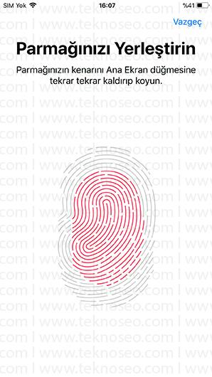 iphone parmak izi tanımlama,touch ıd nedir,iphone cihazlarda parmak izi nasıl yapılır,iphone birden fazla parmak izi tanımlama