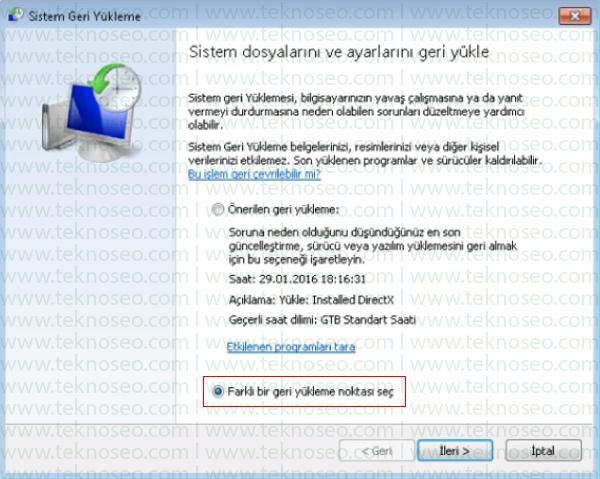 windows 7 sistem geri yükleme,silinen dosyaları geri getirme,windows 7 sistem geri yükleme hatası,windows 7 sistem geri yükleme noktası yok