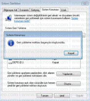 windows 7 sistem geri yükleme noktası oluşturma,sistem geri yükleme noktası yok,sistem geri yükleme noktası oluşturma,sistem geri yükleme tarih belirleme