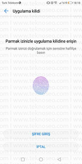 huawei mate 10 uygulama kilitleme,huawei mate 10 uygulamalara şifre koyma,parmak izi,parmak izi güvenliği