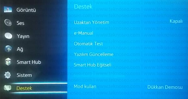 samsung smart tv,mağaza modu nedir,mağaza modu kapatma,dükkan demosu kapatma,evde kullanıma geçme