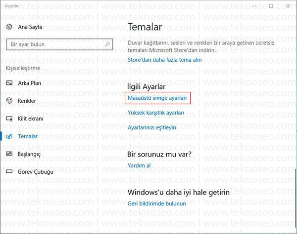 windows 10 simgeleri,masaüstü simgeleri gösterme,windows 10 masaüstü simgeleri getirme,windows 10 masaüstü simgeleri açılmıyor