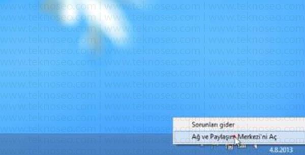 windows 8,tanımlanamayan ağ,dns tanımlama,yasak sitelere giriş,elle ip verme