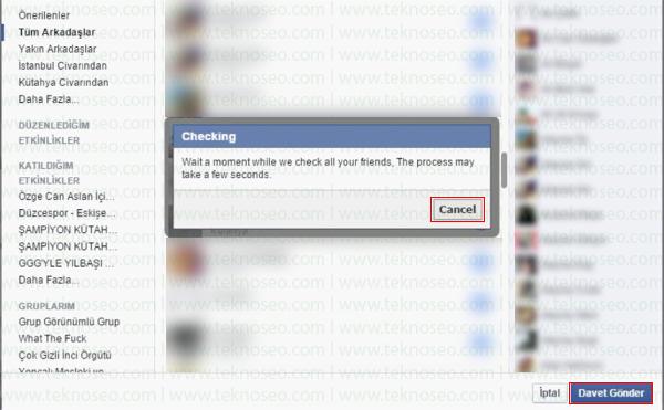 facebook tüm arkadaşları etkinliğe davet etme,facebook etkinlik daveti sınırı kaldırma,facebook invite all,facebook etkinlik davet edemiyorum
