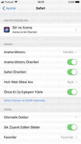 iphone varsayılan arama motoru değiştirme,safari arama motoru değiştirme,iphone cihazlarda varsayılan arama motoru,iphone arama motoru yahoo oldu
