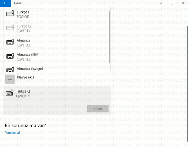 windows 10 f klavye ekleme,windows 10 klavye dili değiştirme,windows 10 f klavyeyi q klavyeye çevirme,windows 10 ingilizce klavye kaldırma