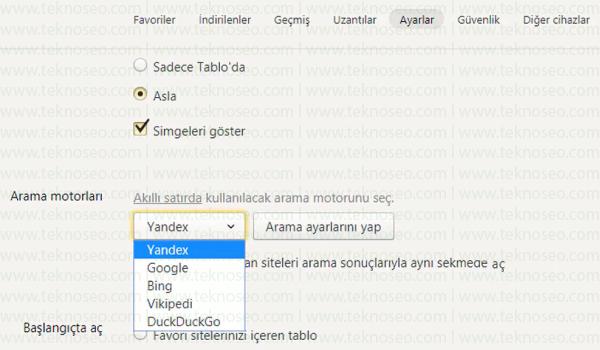 yandex,web browser,varsayılan arama motoru,arama motorunu google yapma,yandex arama motoru google yapma