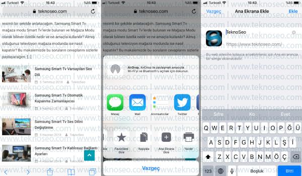 iphone web sayfası kısayolu oluşturma,iphone kısayol oluşturma,web sayfası kısayolu oluşturma,bir site ana ekrana nasıl eklenir,iphone safari