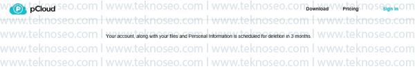 pcloud,delete account,hesap silme,kalıcı olarak silme,üyelik iptali,hesap kapatma