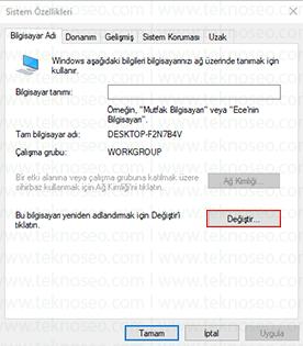 windows 10 bilgisayar adı değiştirme nasıl yapılır,bilgisayarın ismi nasıl değiştirilir,bilgisayarın ağdaki adını değiştirme,bilgisayar adını değiştirme,bilgisayar adı değiştirme win10