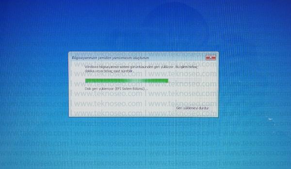 windows 10,imaj yükleme,sistem görüntüsünü geri yükleme,yedek geri yükleme,sistem kurtarma