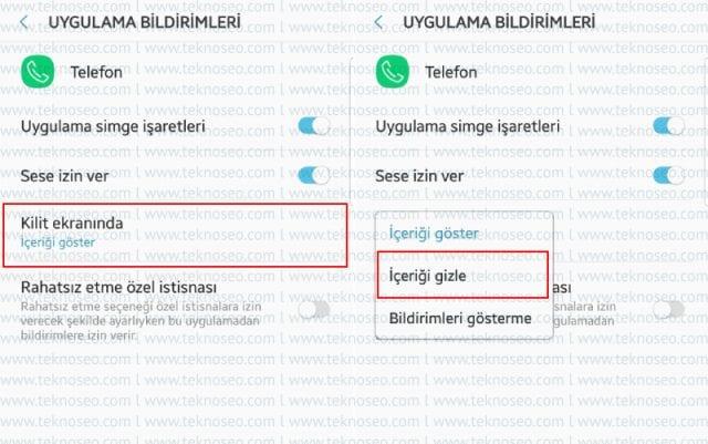 samsung,android 8.0.0,bildirim ayarları,bildirim içeriği gizleme,kilit ekranında bildirim içeriğini gizleme